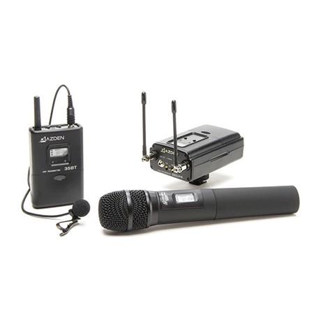 میکروفن بی سیم یقه ای و دستی Azden 330LH